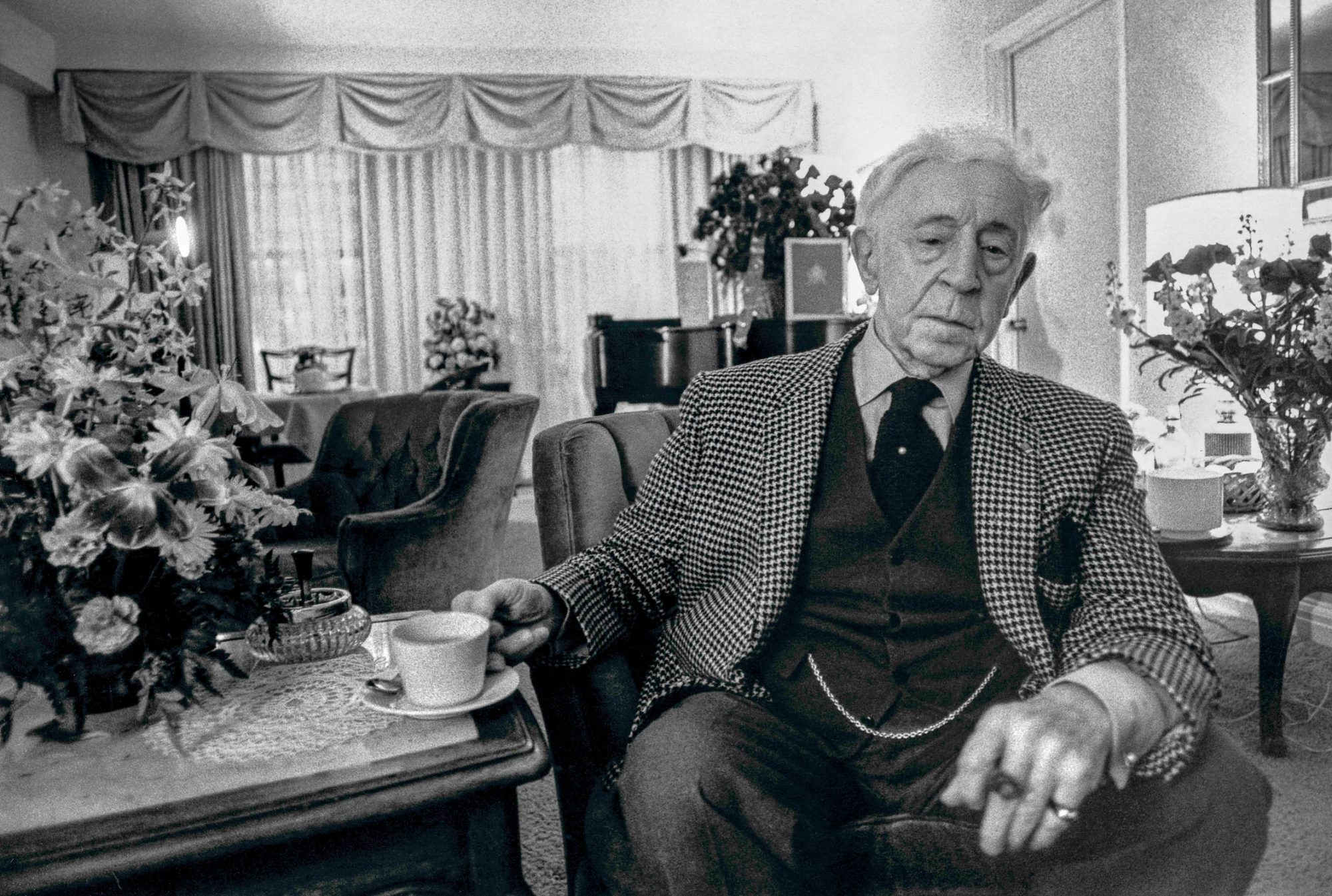 Arthur Rubinstein im Hotel in New York