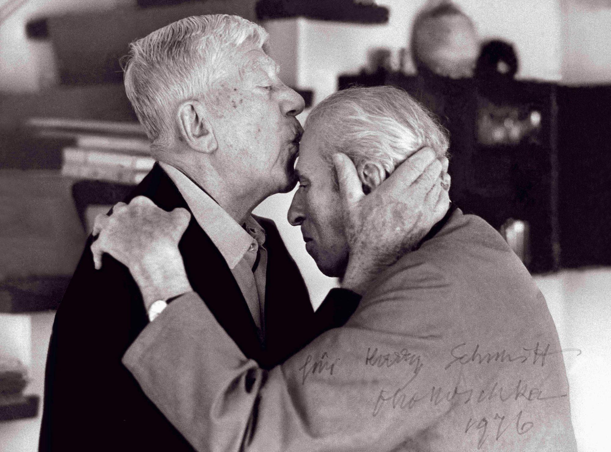 Oskar KOKOSCHKA und Carl ZUCKMAYER mit Kokoschka Widmung