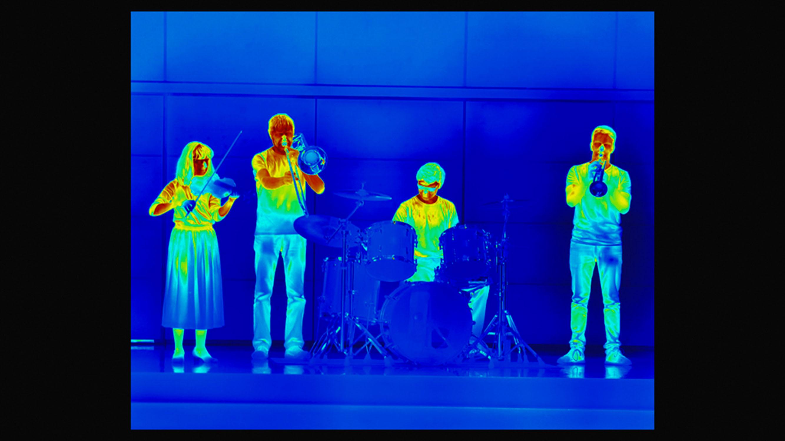 Wärembildkamera-Aufnahmen im Konzertsall im Schloss Kapfenburg